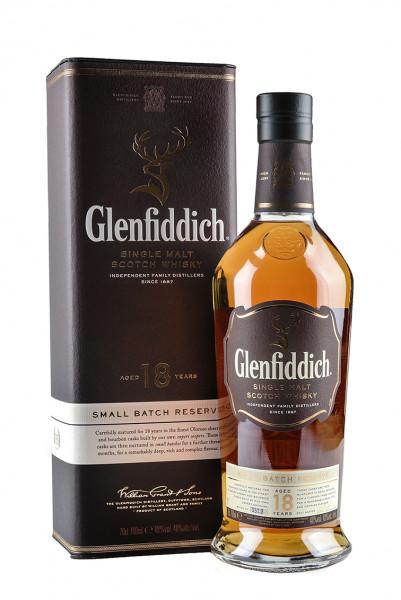 Glenfiddich 18 YO, Single-Malt-Whisky 40% Vol. mit Geschenkverpackung