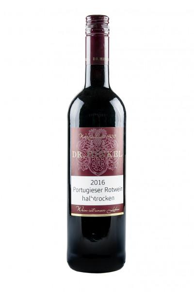 2017 Portugieser Rotwein halbtrocken 11,5% Vol., Weingut Dr. Hinkel, Rheinhessen