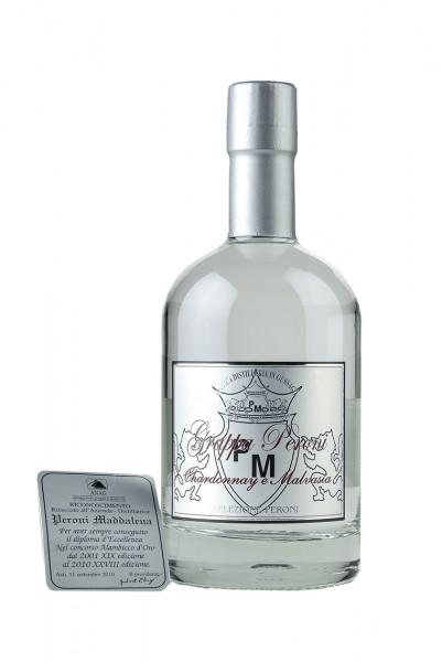 Grappa Chardonnay & Malvasia 42% Vol., Distillerie Peroni Maddalena
