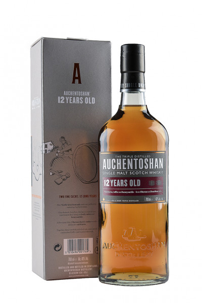 Auchentoshan 12 YO Single-Malt-Whisky 40% Vol. mit Geschenkverpackung
