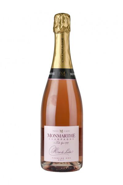 Champagner Rose de Ludes - Premier Cru brut 12,0% Vol., Monmarthe - Champagne
